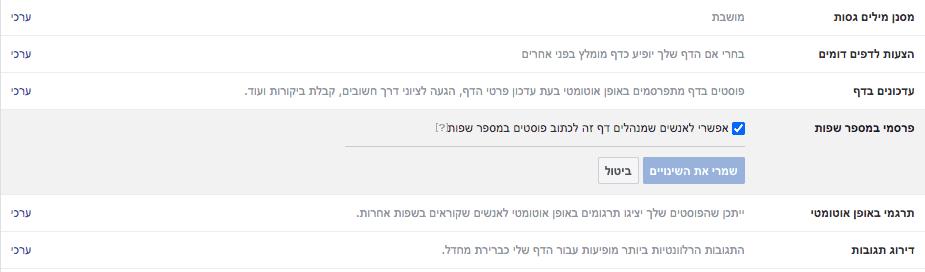 הדרכת פייסבוק